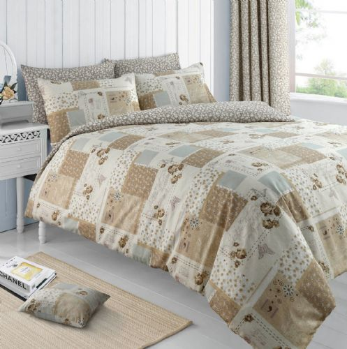 Floral Natural Butterfly Chic Patchwork Roman Bedding Duvet / Quilt Cover Set